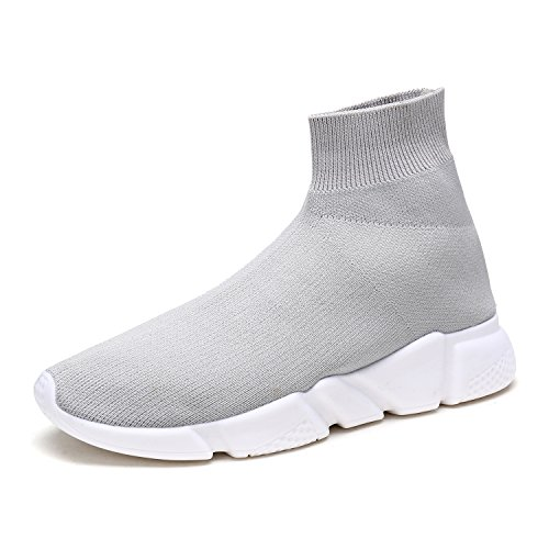 DREAM PAIRS New Fashion Womens Lady Easy Walk Slip-On Light Weight Recreational Comfort Loafer Shoes Sneakers 170885-lt.grey
