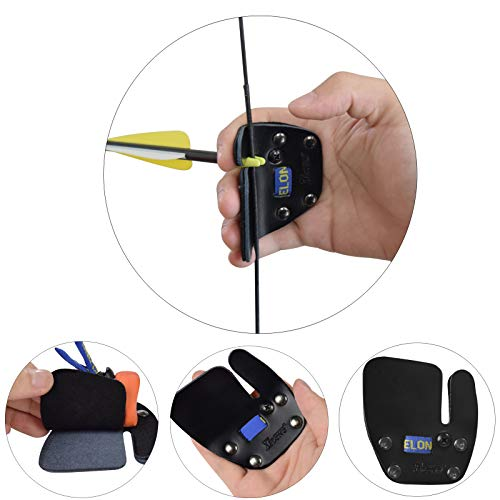 - YLS Archery Finger Tab Shooting Finger Saver Leather Finger Guard for Recurve Bow Right Hand Shooter