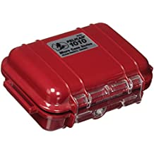 Pelican 1010 Micro Case Solid Red With Red Lid, 5.44 x 4.06 x 2.13
