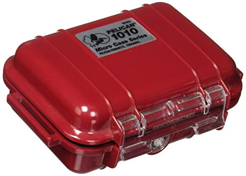 Pelican 1010 Micro Case Solid Red With Red Lid, 5.44 x 4.06 x 2.13 ()
