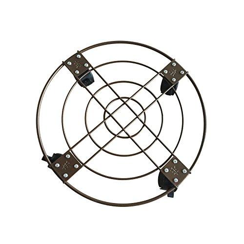 Mr. Garden Plant Caddy Removable 15-Inch Diameter With Universal Wheel Self Locking, 1Pack (Bronze) by Mr Garden