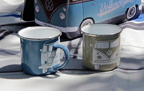 41gZFz4LzbL BRISA VW Collection - Volkswagen T1 Bulli Bus Emaille-Kaffee-Tee-Tasse-Becher für Küche, Werkstatt, Büro, Outdoor…