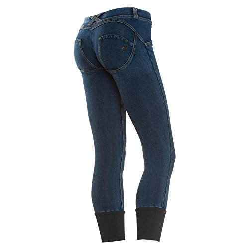 Gialle J3 Pantaloni Jeans Donna Wrup6dj3e Scuro cuciture y Freddy O8tqUU