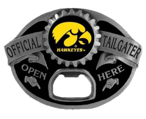 Iowa Hawkeyes Tailgater Novelty Belt Buckle (Hawkeye Belt)