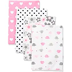Gerber Baby 4 Pack Flannel Burp Cloths