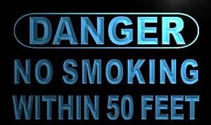 Cartel Luminoso ADV PRO m659-b Danger No Smoking within 50 feet Neon Light Sign