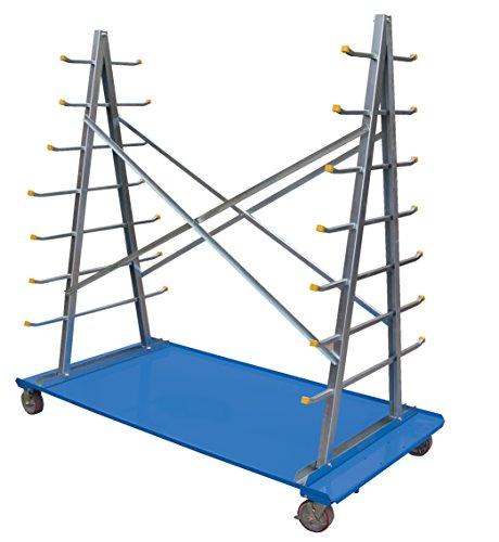 Vestil-AFSR-3672-Frame-Cart-With-Storage-Rack-2000-lb-Capacity-36-34-Width-x-72-14-Length-x-72-14-Height-5-x-2-Poly-On-Steel-Casters-Steel