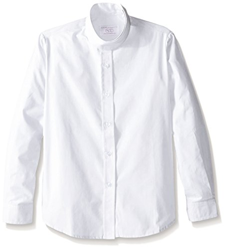 Devon-Aire Girl's Long Sleeve Concour Show Shirts, White, 16