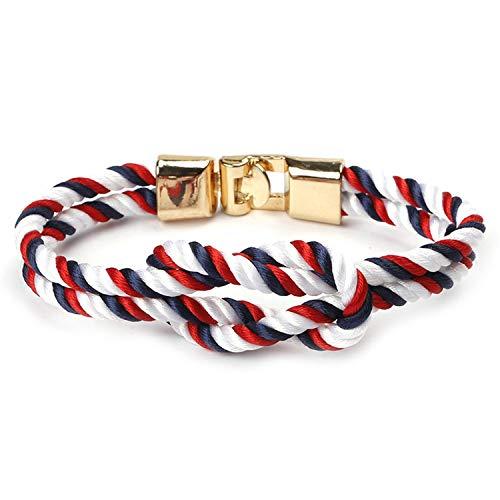 Infinity Bracelets Men Charm Survival Rope Chain Paracord Bracelet Male Wrap Metal Sport ()