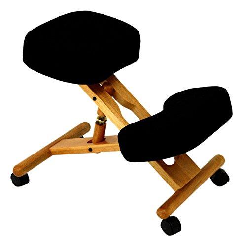 jobri classic kneeling chair with visco elastic memory foam black