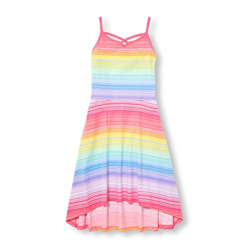 The Children's Place Big Girls' Sleeveless Casual Dresses, Prairieroseneon 01165, S (Kids Girls Sleeveless)