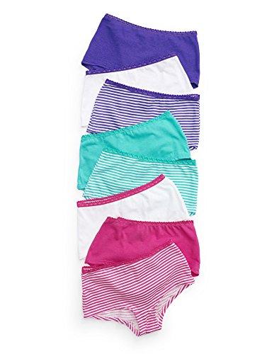 Hanes Girls Cotton Boy Short (Hanes Girls` ComfortSoft 8-Pack Lace Boyshort, GWLSP8, 10,)