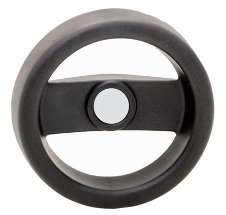 w//o Revolving Handle 1 Each 2 Spoke Technopolymer Black Matte 11.73 Dia. Elesa Hand Wheel .750 Bore