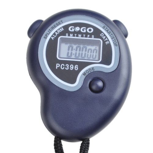 GOGO Electronic Stopwatch, Sport Digital Stopwatch, Lap Timer, Alarm Clock