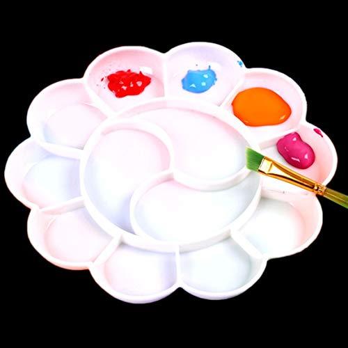 1 Pack Paint Pallets, Plastic 13-Grid Plastic Artist Palette Ideal for DIY Craft Art Painting