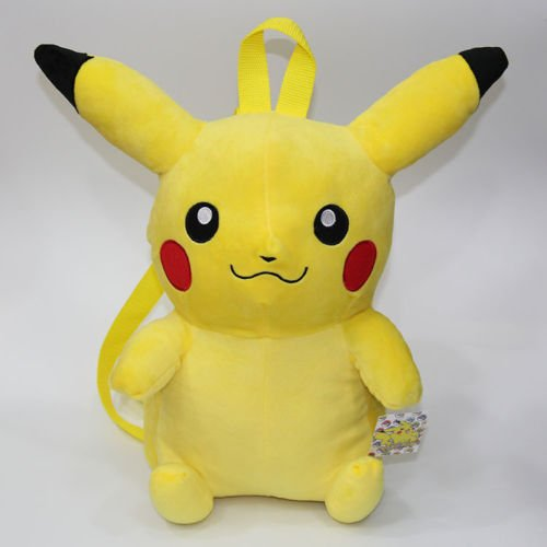 Pokemon Pikachu Plush Backpack School Lunch Shoulder Bag ...