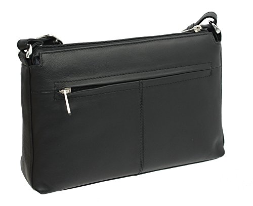 Black Body Black Leather Collection Bag ANISHKA Shoulder Mala Cross 759 Leather 75 SYqFPn7v