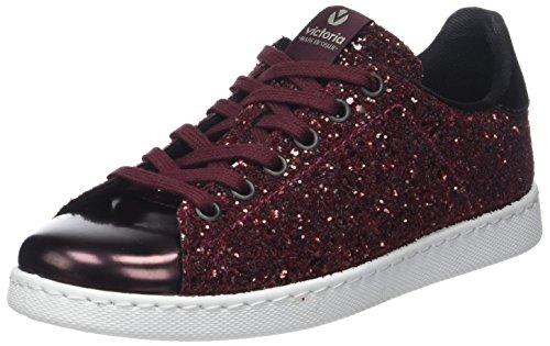 Deportivo Para Victoria 41 Rojo Glitter Zapatillas Mujer burdeos df4Axw6q4t