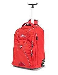 High Sierra 53991-2065 Freewheel Wheeled Backpack, Crimson, International Carry-On