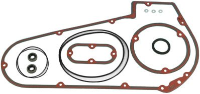 y Cover & Inspection Cover Only Gasket Kit for Harley David - One Size (Primary Cover Gasket Kit)