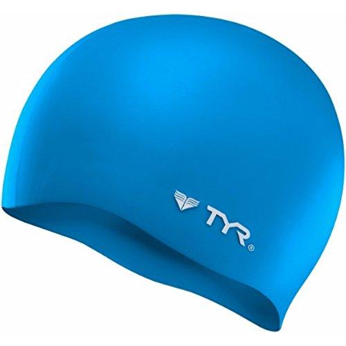 TYR Wrinkle Free Silicone Cap, Blue (Swim Silicone Caps)