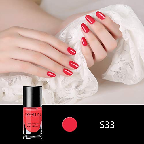 S33 Laser - Clearence 8ML Peel Off Pure Color Series Nail Polish Art Varnish Water Based Pregnant s33