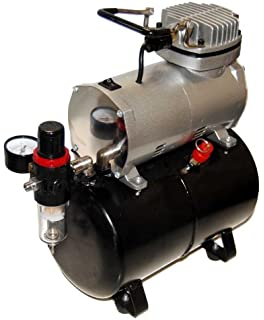 Airbrush Depot TC-20T AIRBRUSH TANK COMPRESSOR WITH WATER TRAP AND REGULATOR