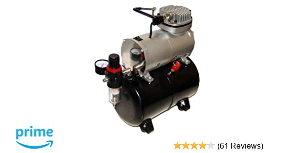 Amazon Airbrush Depot TC 20T AIRBRUSH TANK COMPRESSOR WITH WATER TRAP AND REGULATOR