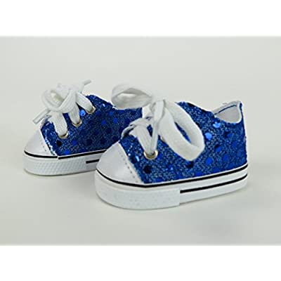 Royal Blue Sequin Sneakers -18