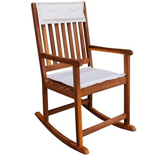 Festnight Garden Plantation Porch Rocker/Rocking Chair, Acacia Wood