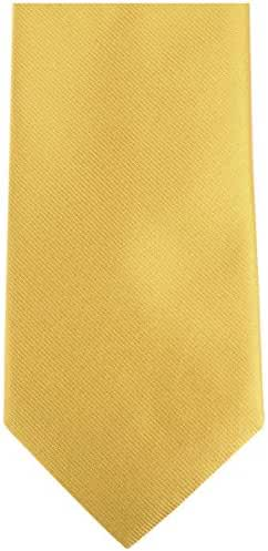 Yellow/Orange Plain Silk Tie by Bassin and Brown