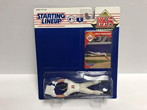 Chuck Knoblauch Minnesota Twins 1995 SLU Collectible Toy Action Figure with Trading Card
