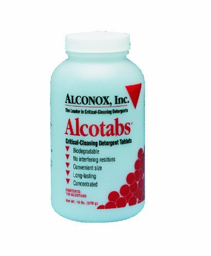 Alconox 1500 Alcotabs Critical Cleaning Effervescent Detergent Tablets Bottle of 100 by Alconox