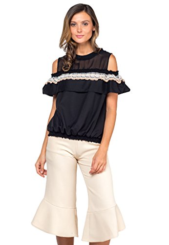 Plains and Prints Womens Riviera Jamaica Short Sleeves Top