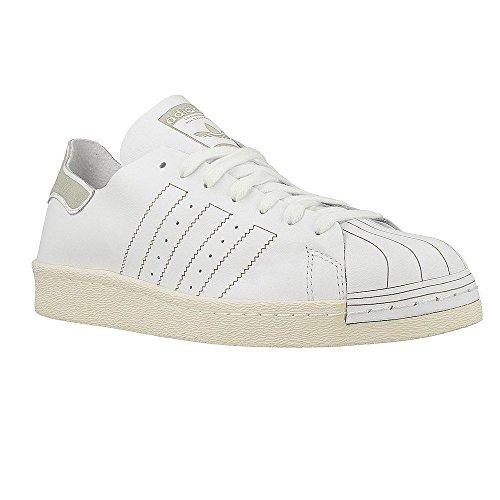 Adidas Superstar 80s Decon Bz0109 Ftw Hvit / Ftw Hvit / Vintage Hvite Menns Uformelle Joggesko 10 Oss