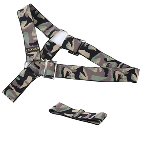 65e50d2f292 IYUNYI Adjustable Nylon Mens Chest Cover Half Body Corset Harness Belt and  Armband Set Clubwear Costume (Green Camouflage)