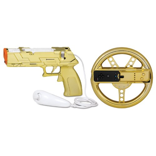 - dreamGEAR Nintendo Wii Race and Shoot Bundle (gold)
