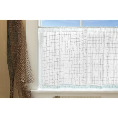 Heritage Lace Seacoast Tier With Trim 45 By 30 Inch White