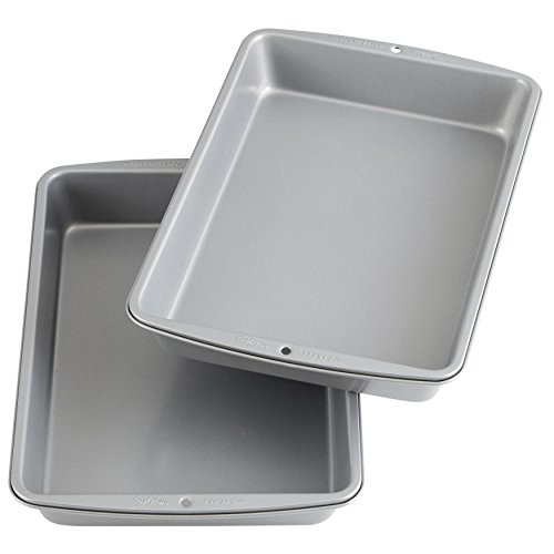 Wilton Recipe Right Non-Stick 9 x 13-Inch Oblong Cake Pan, Multipack of 2