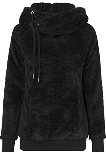 7 Nero Donna Teddy Long Felpa Ladies black Hoody Classics Urban Yf0w6qzq