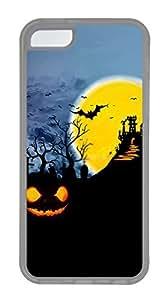 meilz aiaiiPhone 5c Cases - Lovely Mobile Phone Halloween Pumpkins Bats Grave Clouds Moon Bridge Rubber Bumper Protecting Shellmeilz aiai