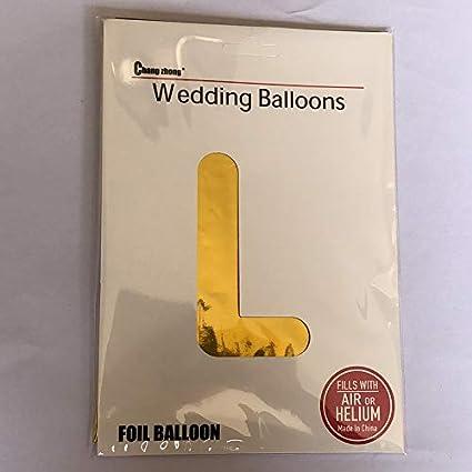 Amazon.com: Globo de helio de 40 pulgadas con letra dorada ...