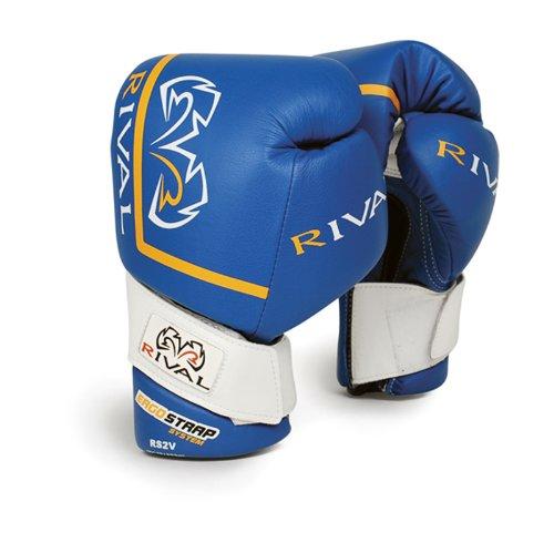 RIVAL RS2V-PRO RED SPARRING BOXING GLOVES VELCRO