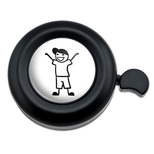 Cane Horn (Graphics and More Young Son Stick Figure Family Little Boy Bicycle Handlebar Bike Bell)