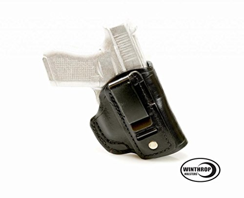 S&W M&P Shield RED Crimson Trace Laser 9mm or 40 cal IWB CCW NO Shield Leather Single Spring Clip Holster R/H Black - 0888 (Best Holster For S&w 40 Cal)