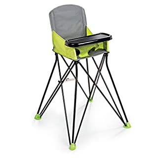 Summer Pop 'n Sit Portable Highchair, Green - Portable Highchair For Indoor/Outdoor Dining – Space Saver High Chair with Fast, Easy, Compact Fold, For 6 Months – 45 Pounds