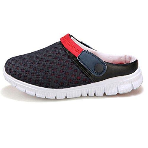 Ularma Sandalias Unisex en verano, malla transpirable, zapatos de los amantes de hueco-hacia fuera Rojo