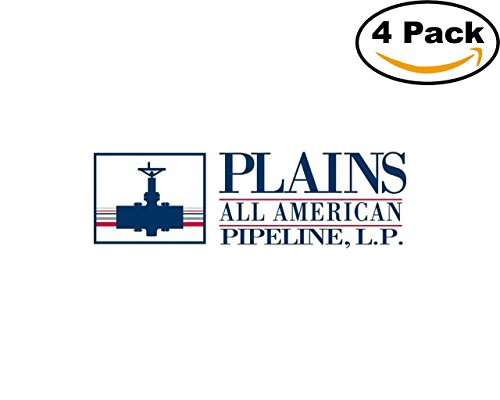 Gas Oil Company Plains All American Pipeline Logo 4 Stickers 4X4 Inches Car Bumper Window Sticker Decal