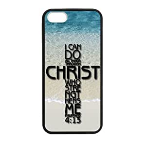 iPhone 5,iPhone 5s Rubber Laser Technology Durable Back Case with I can do all things through Christ who strengthens me - Philippians 4:13 - Bible verse by ruishername
