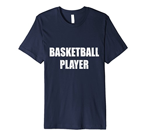 Mens Basketball Player Shirt Halloween Costume Funny Distressed Medium Navy